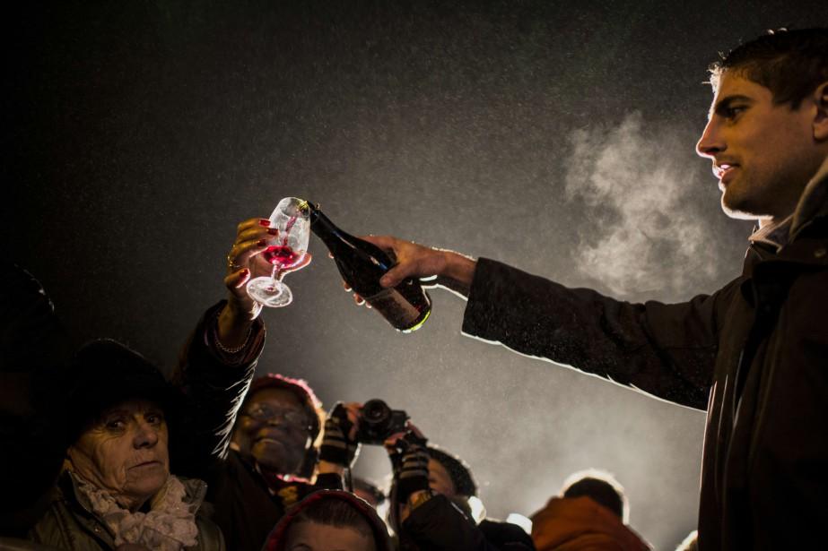 Un coup de maillet dans un tonneau, le... (Photo AFP)